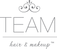 TEAM Hair & Makeup Logo