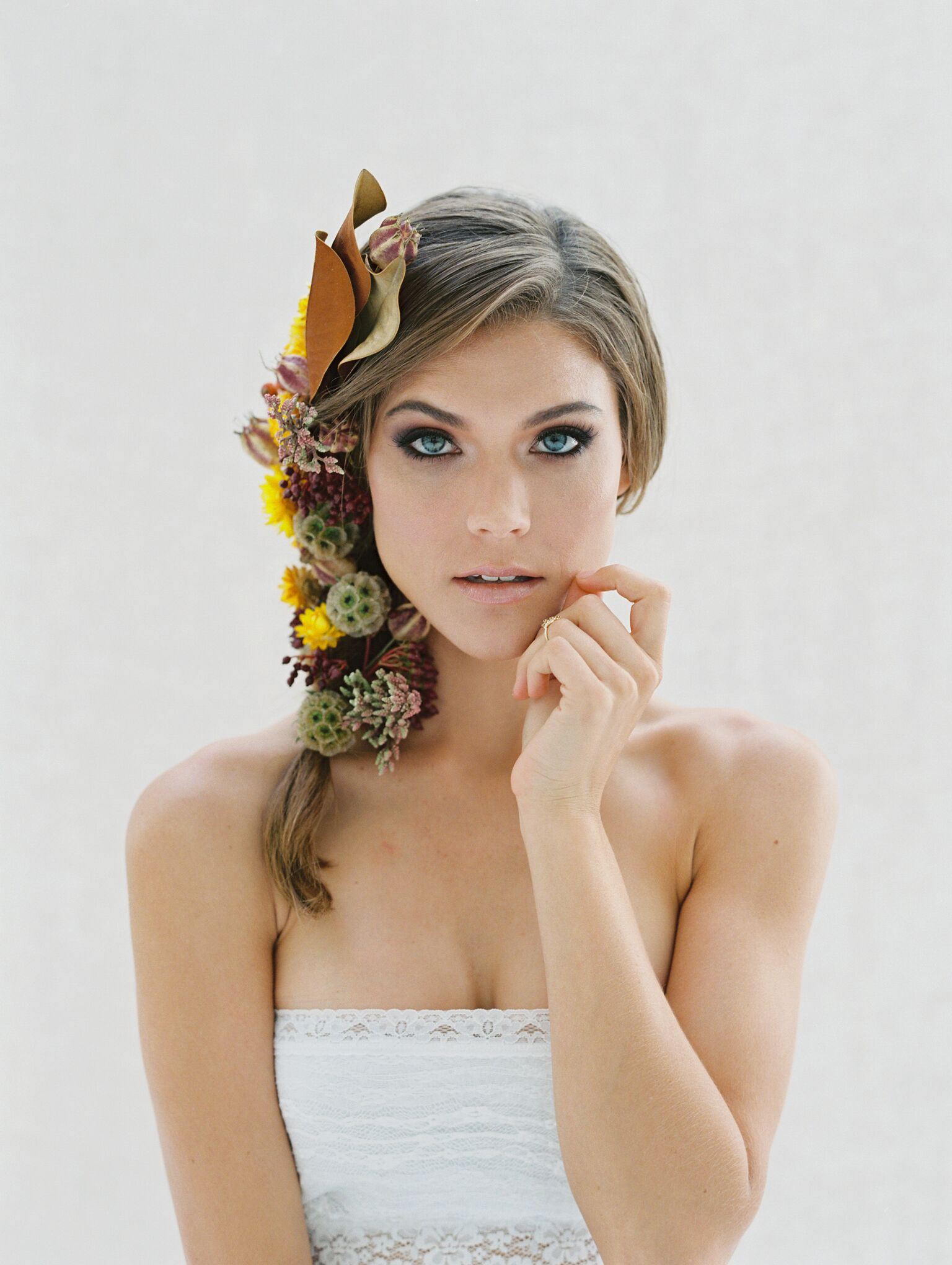Floral beauty hairstyles with Flutter Magazine