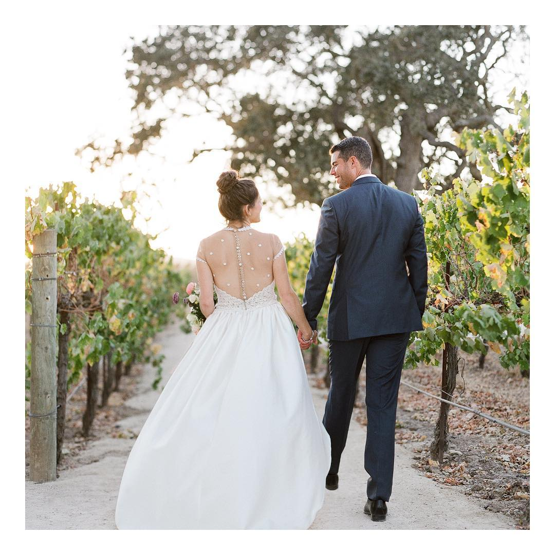 Cover Feature of Editor Kim Wiseley's Santa Ynez Wedding in Flutter Magazine