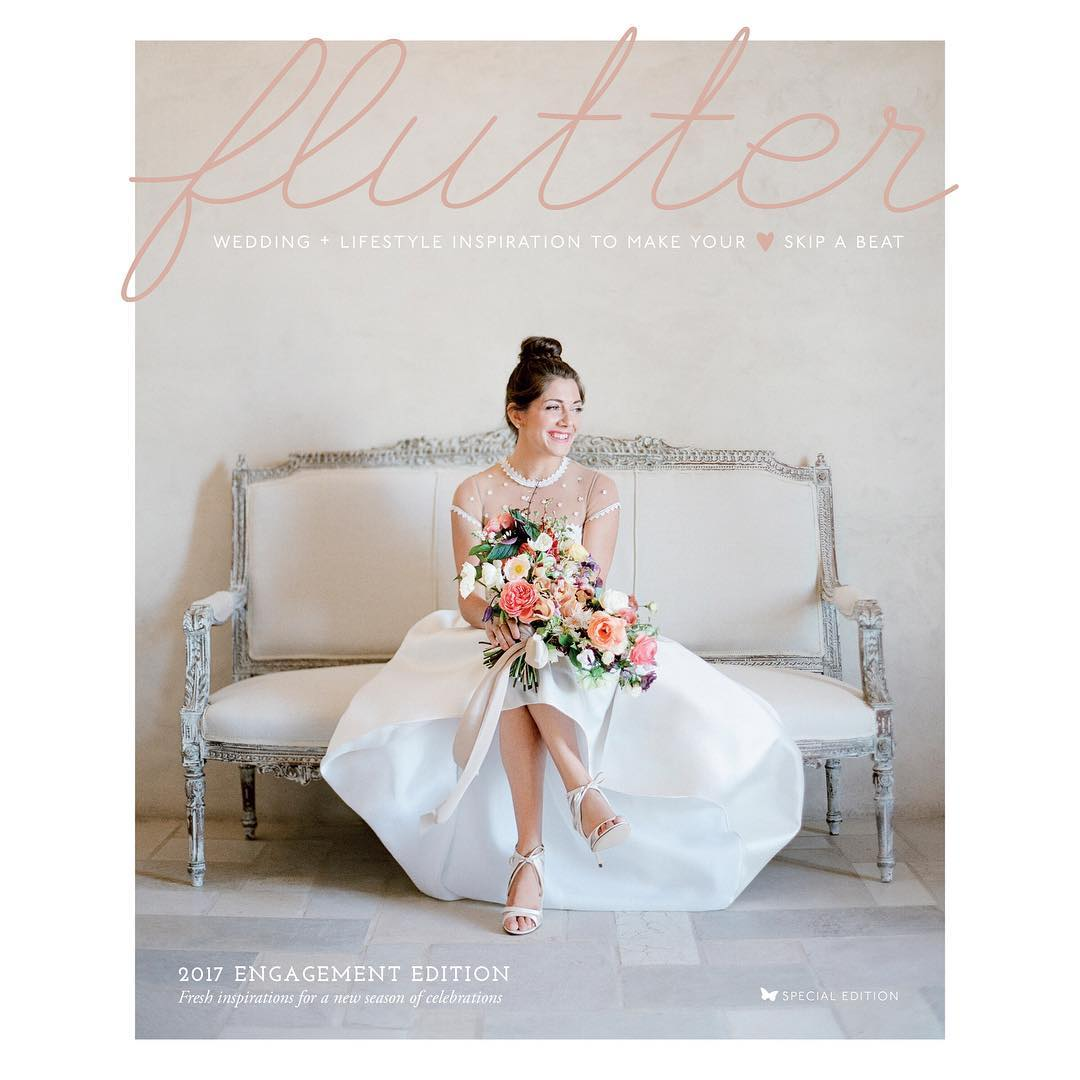 Cover Feature of Editor Kim Wiseley's Wedding in Flutter Magazine