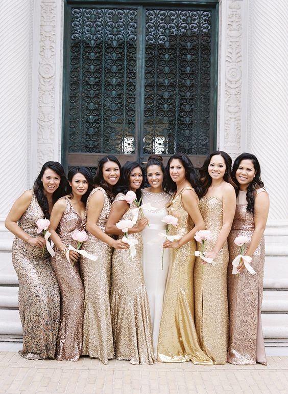 Modern Gilded San Francisco wedding / Team Hair and Makeup