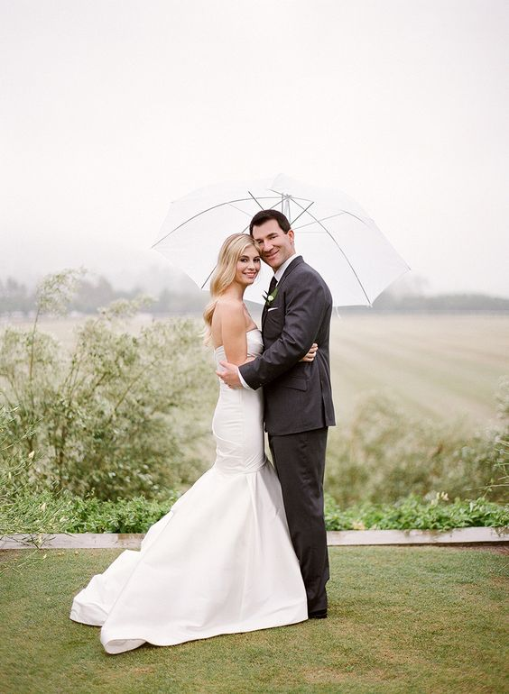 Rustic and Romantic Rainy Day Wedding