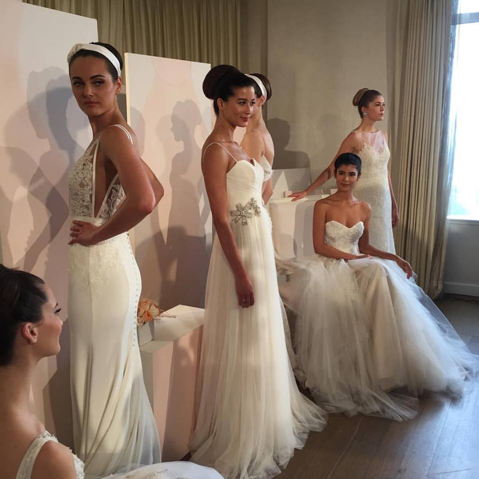 anne barge fashion week - bridal hairstyles