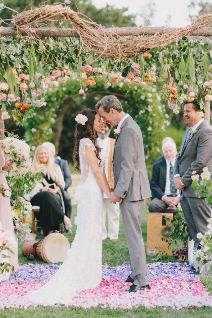 colorful and environmentally conscious San Ysidro Ranch wedding
