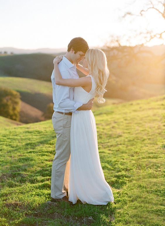 California Dreaming Sunset Engagement Session / Jose Villa photography + TEAM Hair & Makeup