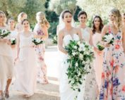 Brides garden wedding bridesmaids