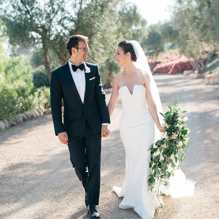 Brides garden wedding