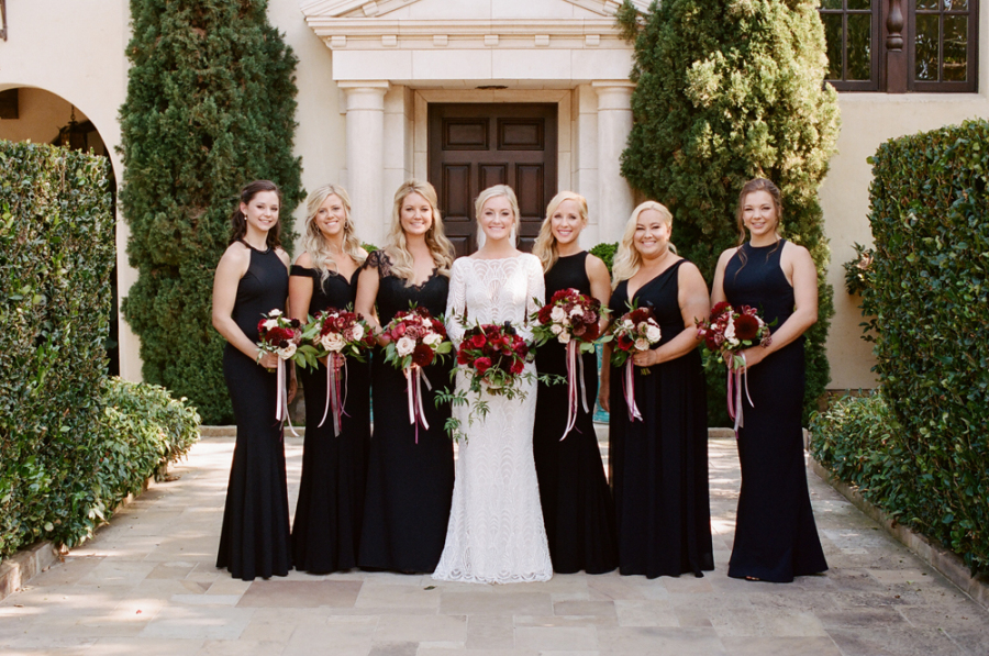 bold colors garden wedding- bridal hair and makeup artists : TEAM Hair and Makeup