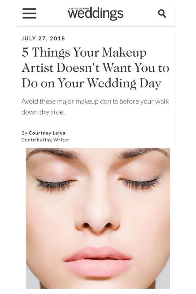 Wedding Makeup Advice from TEAM Hair and Makeup / Martha Stewart Weddings