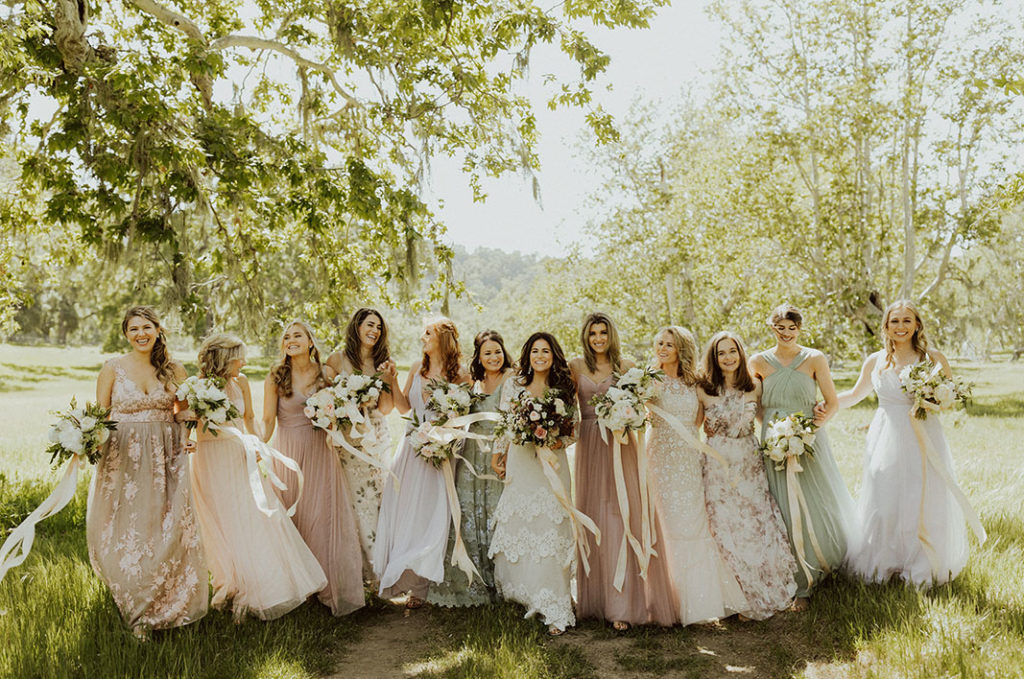 TEAM Hair and Makeup | Southwestern Wedding Where Bohemian Meets Black Tie