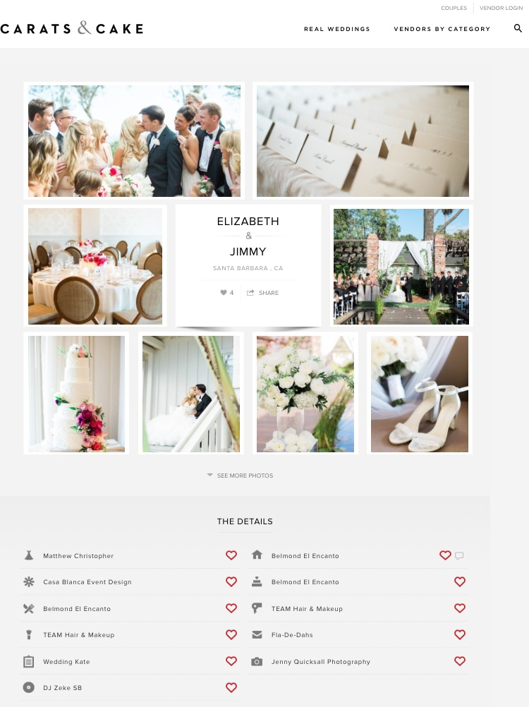 Carats and Cake wedding feature -TEAM Hair and Makeup