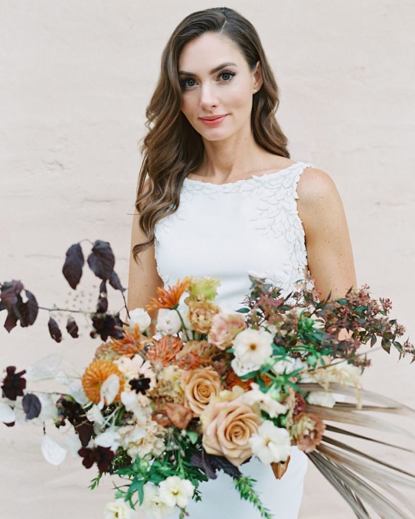 An Interior Designer's Autumnal & Floral Packed Wedding - TEAM Hair and Makeup