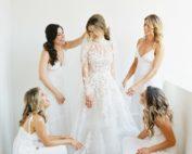 Brides Magazine- Romantic Ojai, California Wedding - TEAM Hair and Makeup