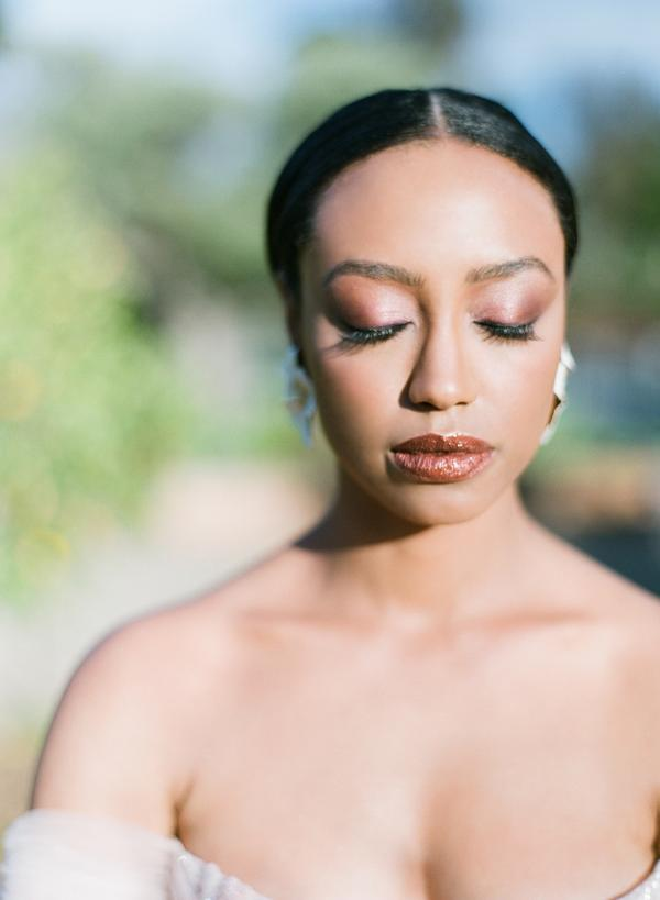 Hair and Makeup Bridal Beauty Wedding Inspiration featured on Style Me Pretty - TEAM Hair & Makeup