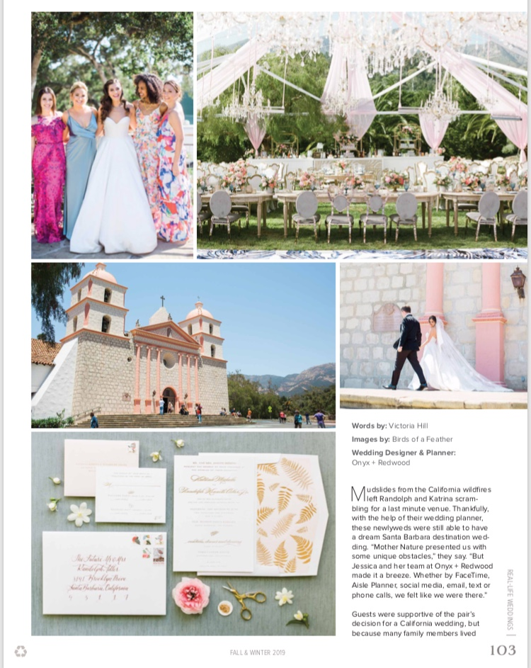 Destination I Do bridal Santa Barbara wedding feature | TEAM Hair & Makeup