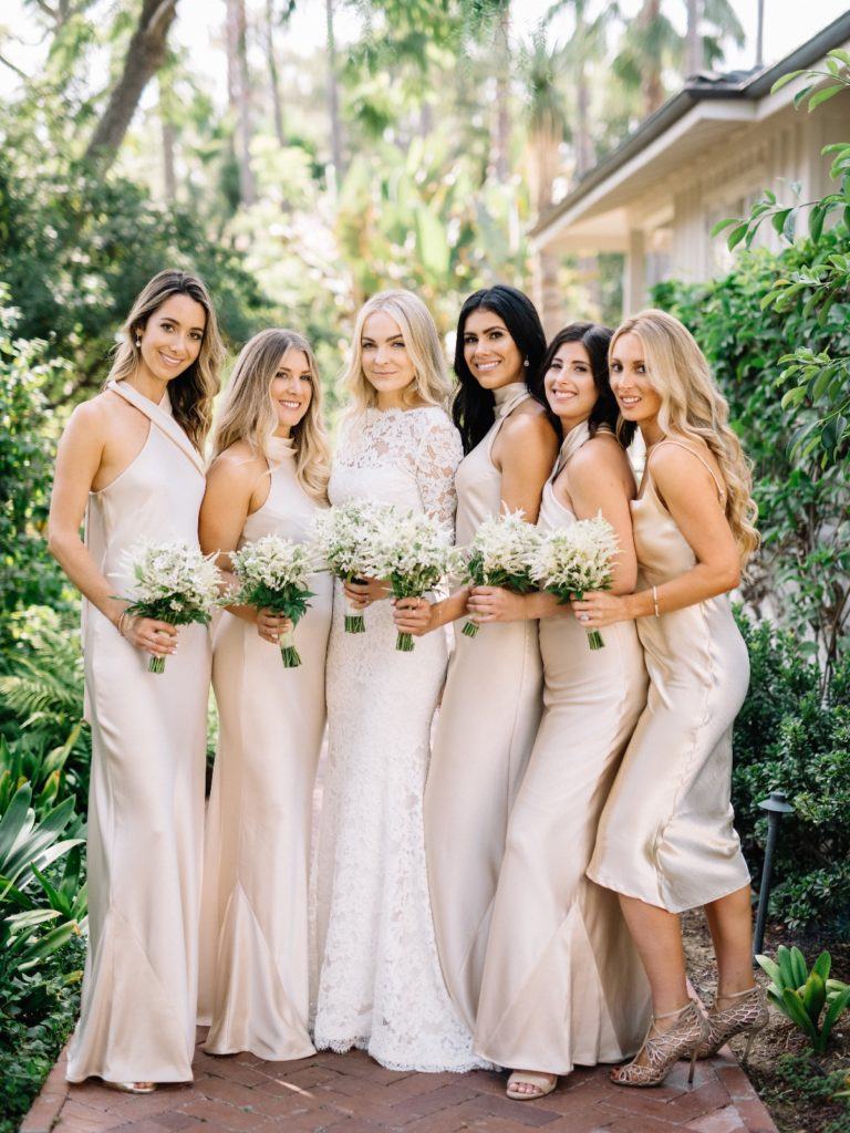 garden chic wedding bridal party | TEAM hair & Makeup