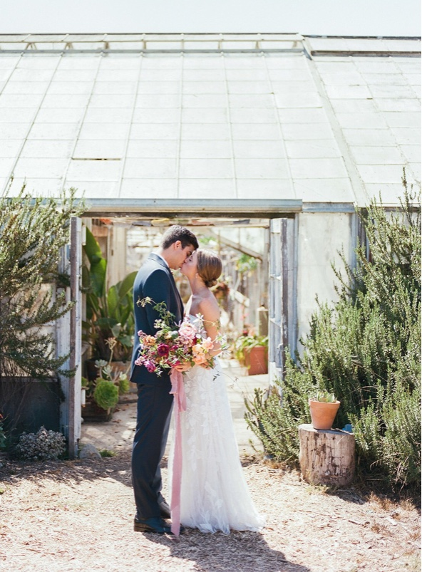 Elevated backyard greenhouse wedding- Martha Stewart - TEAM Hair & Makeup