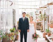 Elevated backyard greenhouse wedding- Martha Stewart - TEAM Hair & Makeup