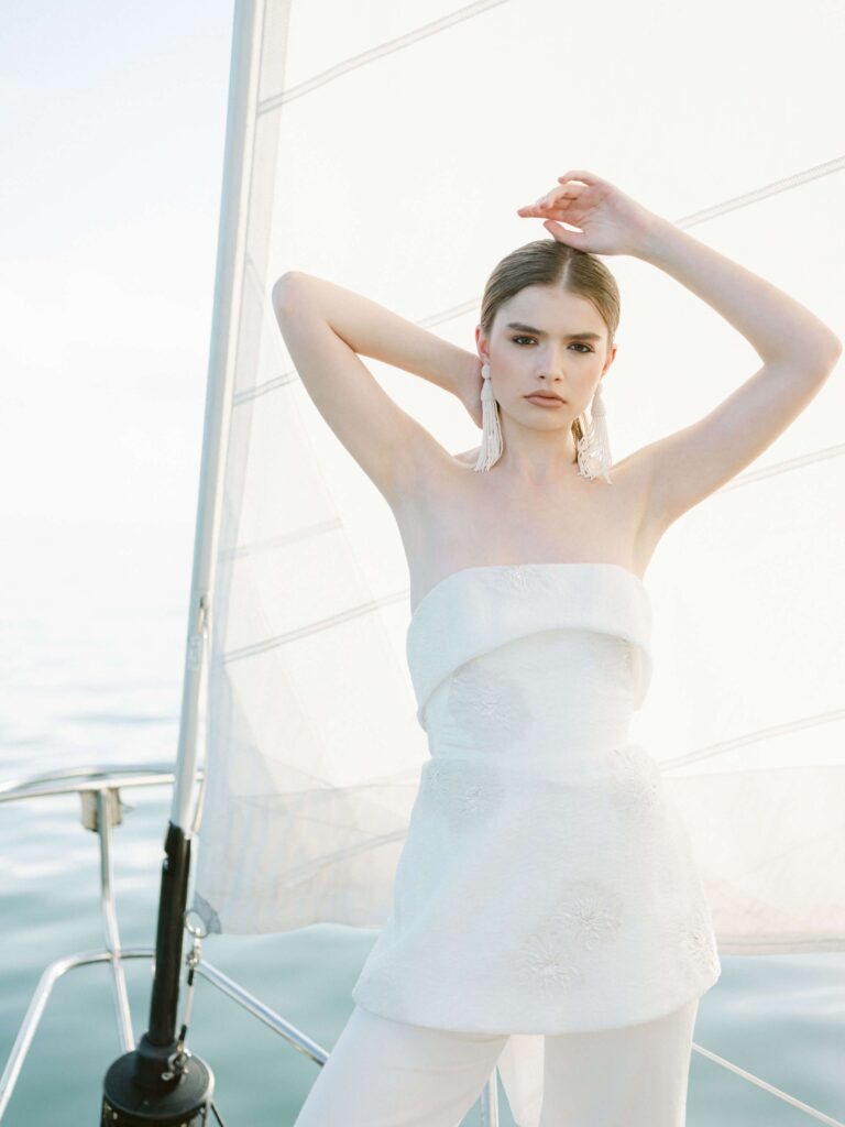 Nautical bridal inspiration photoshoot