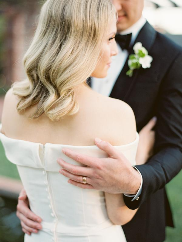 elegant bride at intimate santa barbara wedding
